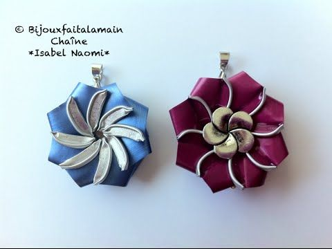 DIY Nespresso:Comment-faire un pendentif ou broche tourbillon fleur - YouTube
