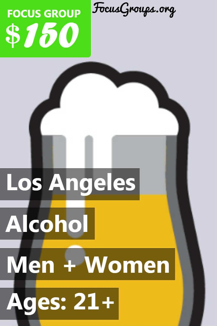 Plaza Research Los Angeles is looking for respondents of legal drinking age to participate in our upcoming Alcoholic Beverage Study for 2 hours on August 17, 2017 at Our office near LAX. Incentive: $150. As with all Plaza Research studies, participants are booked on a first come first serve basis. Not all participants who complete this pre-questionnaire will qualify for this study, nor will everyone receive a callback. PLEASE DO NOT CALL IN REFERENCE TO THESE STUDIES, WE WILL NOT BE…