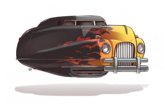 Смешные транспортные средства будущего