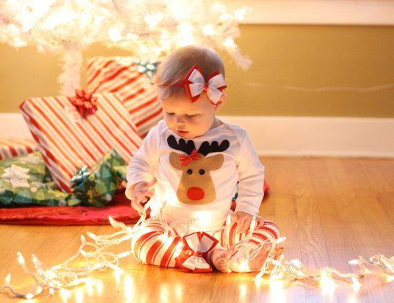 Christmas Newborn Baby Toddler Girl Rudolph by vintagebabypretties, $28.00