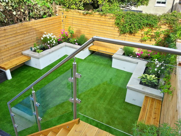 A glorious #garden utilising gorgeous glass #balustrade
