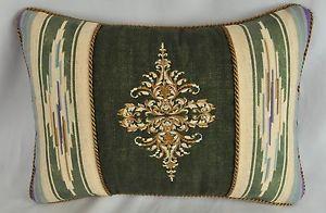Embroidered Pillow Made w Ralph Lauren Desert Spring Aztec Southwestern Fabric   eBay