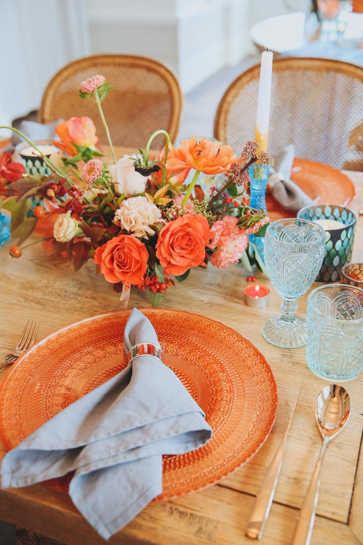 Modern Orange & Blue Wedding Styling Ideas At Watsons Bay Boutique Hotel - Polka Dot Bride | Photo by https://www.instagram.com/amykatesnaps/