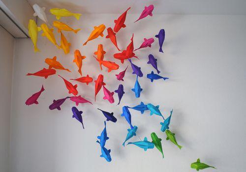 Colorful Origami Koi