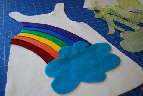Sunshine and Rainbow Halloween free DIY costume pattern and tutorial for babies and toddlers