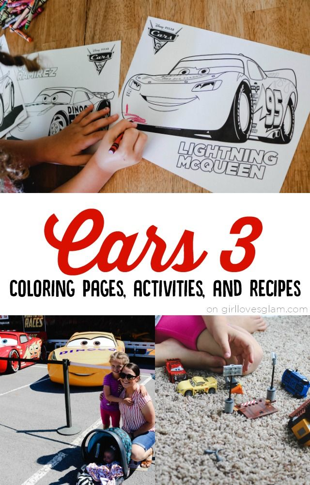 Cars 3 coloring pages, activities, recipes, and a look at the new Cars 3 Lego Junior sets! Everything you need for your Cars movie fans!