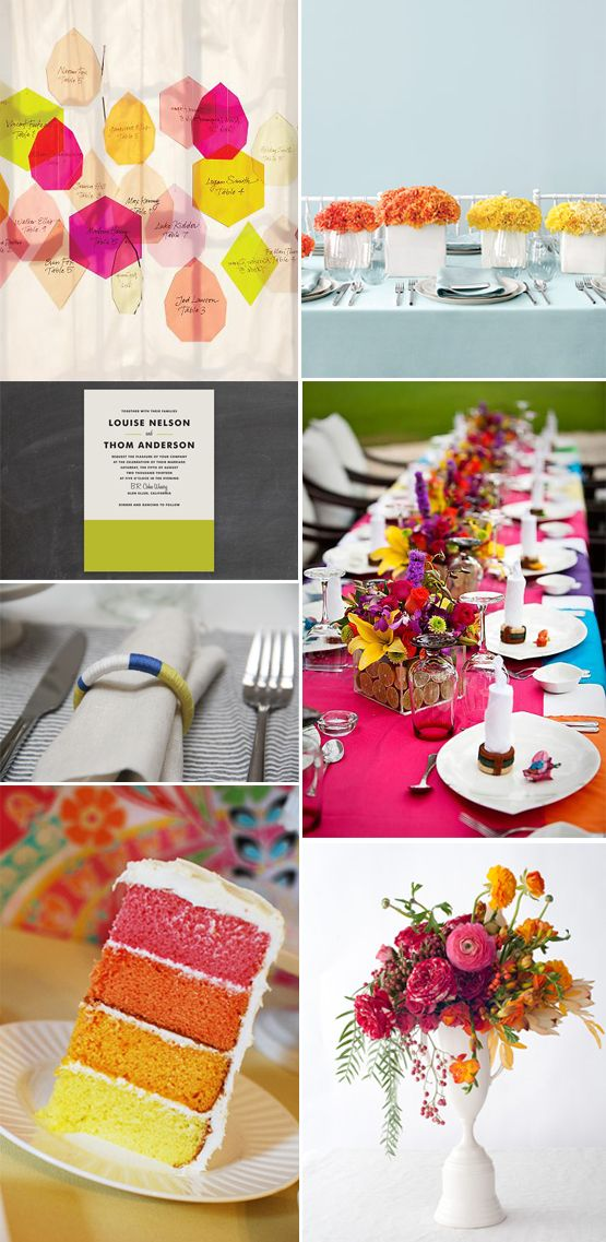 TREND ALERT: Color Blocking & Weddings - Weddings in Nigeria