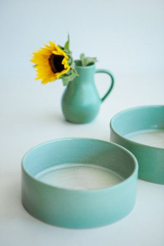 SWIRL SMALL SALAD BOWL - SPEARMINT