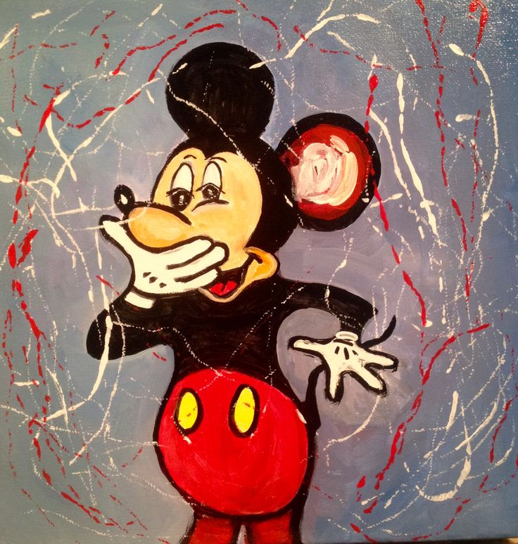 Mickey Mouse  Acrylic over canvas  Private collection