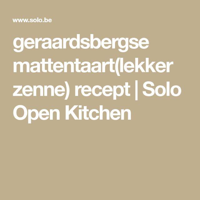 geraardsbergse mattentaart(lekker zenne) recept | Solo Open Kitchen