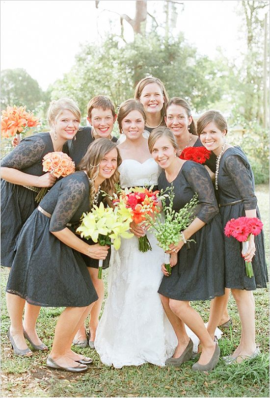 Chic Garden Party Wedding Pinterest Lace Dress Bridesmaids And