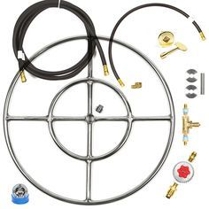 """FR24CK+ Complete Deluxe Do It Yourself (DIY) 24"""" Double Ring Fire Ring Fire Table/ FiePit Kit (Complete from LP Tank Connection to Hoses to Key Valve Operation to Burner).   The main difference..."""