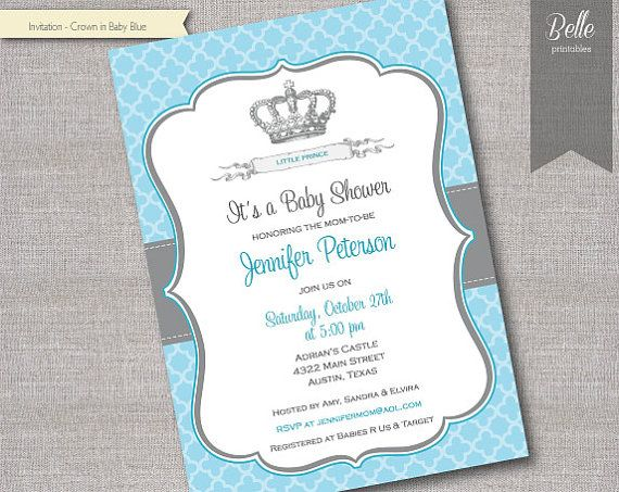 34 best prince invitations images on Pinterest Princesses, Baby - how to make a baby shower invitation on microsoft word