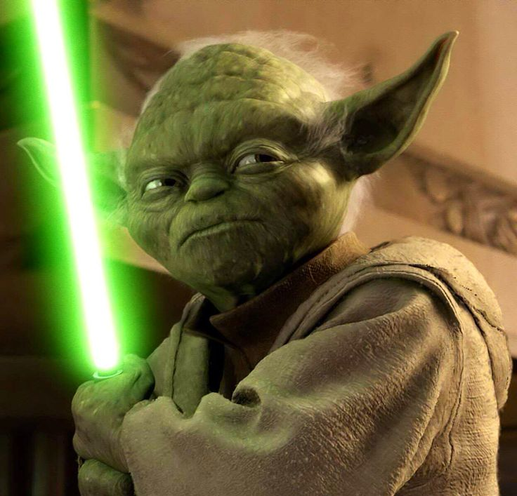 "Master Yoda - Star Wars hexalogy ""Size matters not. Look at me. Judge me by my size, do you? Hmm? Hmm. And well you should not. For my ally is the Force, and a powerful ally it is. Life creates it, makes it grow. Its energy surrounds us and binds us. Luminous beings are we, not this crude matter. You must feel the Force around you; here, between you, me, the tree, the rock, everywhere, yes. Even between the land and the ship."""