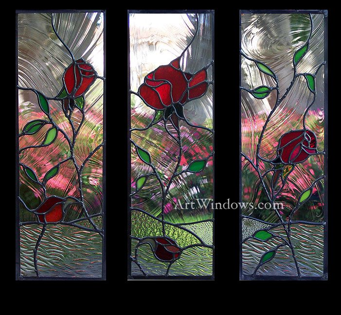 17 best images about stained glass flowers plants for Rose window design