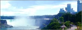 Niagara Falls, New York    You must wear a rain coat if you get close to the falls.  But WHAT A SIGHT!