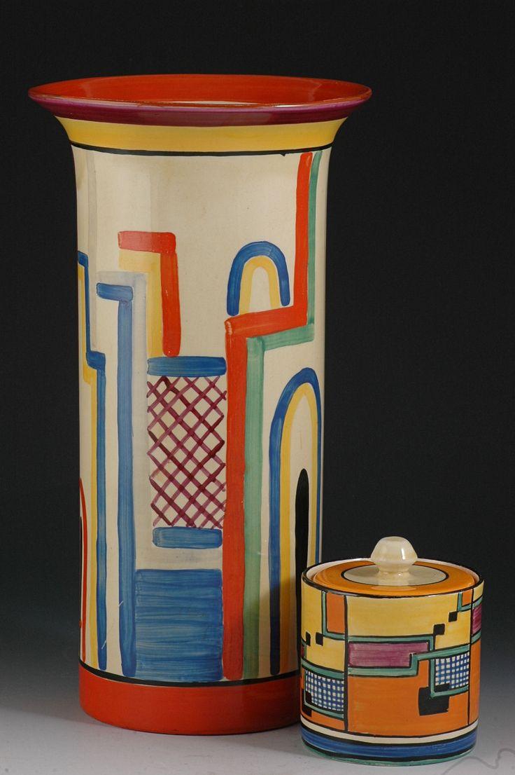 "Andrew Muir | Clarice Cliff, Art Deco Pottery, Moorcroft and 20th Century Ceramics Dealerclarice cliff TENNIS GIANT 11.5"" 195 VASE C.1931"