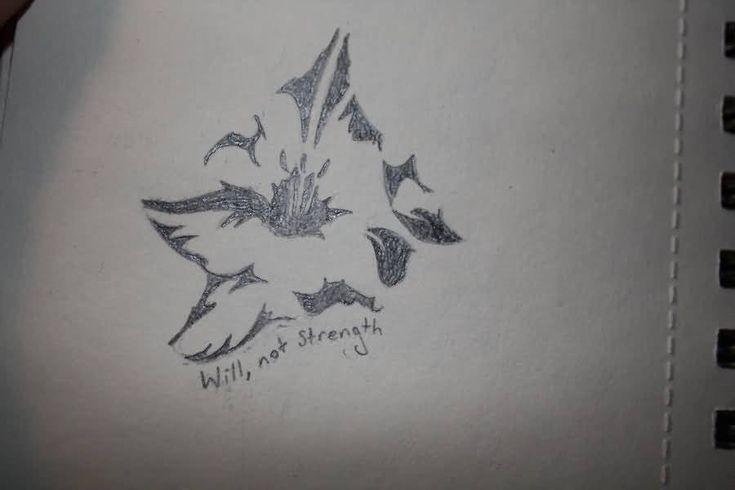 Will Not Strength Gladiolus Grey Ink Gladiolus Flower Tattoo Sketch