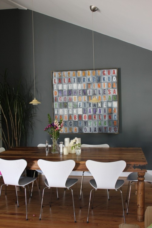 I love the painting: Dining Room, Grey Wall