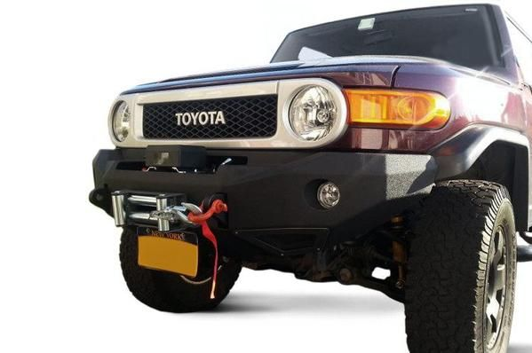 2007-2015 Smittybilt Toyota FJ Cruiser  M-1 Front Bumper What an awesome deal at BUMPERONLY.COM! https://bumperonly.com/collections/toyota-fj-cruiser-1/products/2007-2015-smittybilt-toyota-fj-cruiser-612850-m-1-front-bumper-textured-black