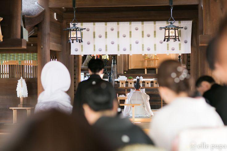 愛知*国府宮神社での神前式   *elle pupa blog*