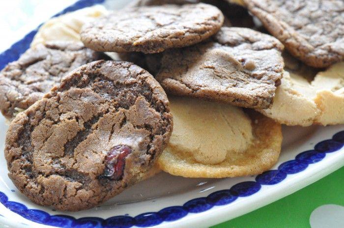 Cookies med vanille, lakrids og tranebær
