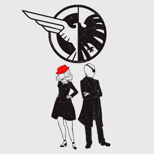 SSR & SHIELD || Peggy Carter, Nick Fury || by Shelly the Art Lady || Agent Carter T-Shirt Contest || #fanart
