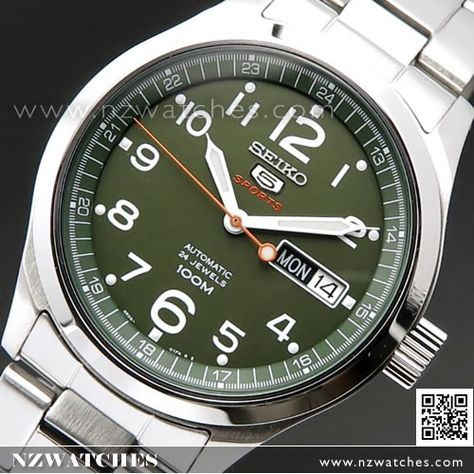 Seiko 5 Sports Automatic Military Green Watch SRP271J1, SRP271 Japan