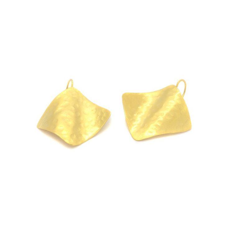 Earrings bronze gold plated GIOIA www.bijoubox.gr  #bijoubox #earring #bronze  #gold #handmade #greece #greek #jewelry #jwl