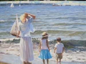 Ocean View Point by Ron Hedrick Oil ~ 30 x 40