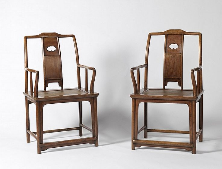 Buy Online, View Images And See Past Prices For A Pair Of Huanghuali  Yokeback Armchairs (NanGuanMaoYi) Qing Dynasty, Century. Invaluable Is The  Worldu0027s ...