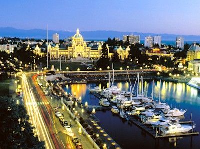 Victoria, British Columbia. We spent time here before our wedding in Tofino and stayed at the Fairmont pictured center.