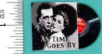 """Dollhouse Miniature """"As Time Goes By"""" Vinyl Record"""