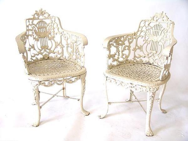 cast iron antique garden seats
