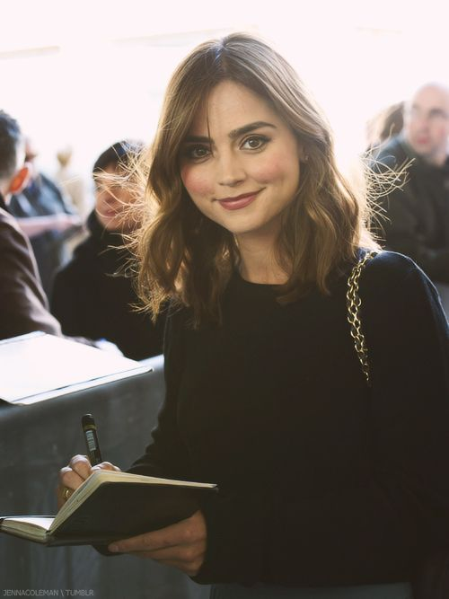 Jenna outside BBC Radio One Studios. Love her hair, especially the length.