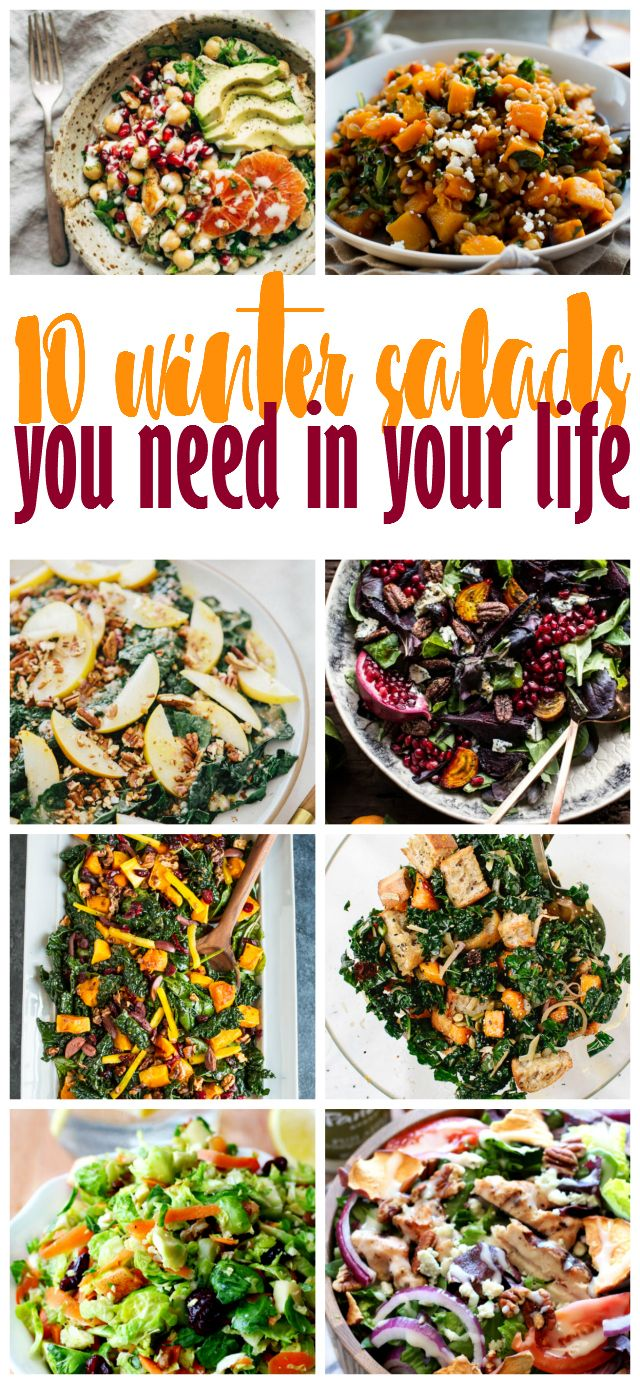 Looking for healthier recipe suggestions among all of the Christmas cookie recipes? Good, because sharing 10 Winter Salads You Need In Your Life!
