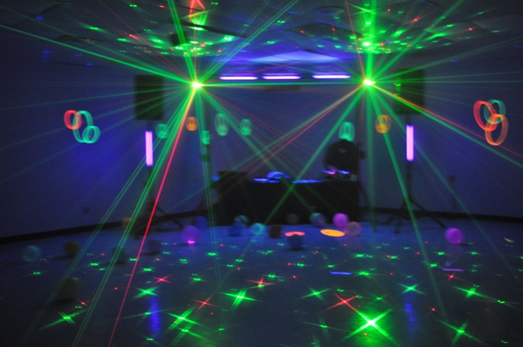Sweet Sixteen Blacklight Party! only used blacklights and lazers