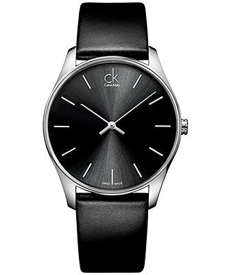 17 best images about watches tag heuer skagen ck calvin klein watch men s swiss classic black leather strap 38mm k4d211c1