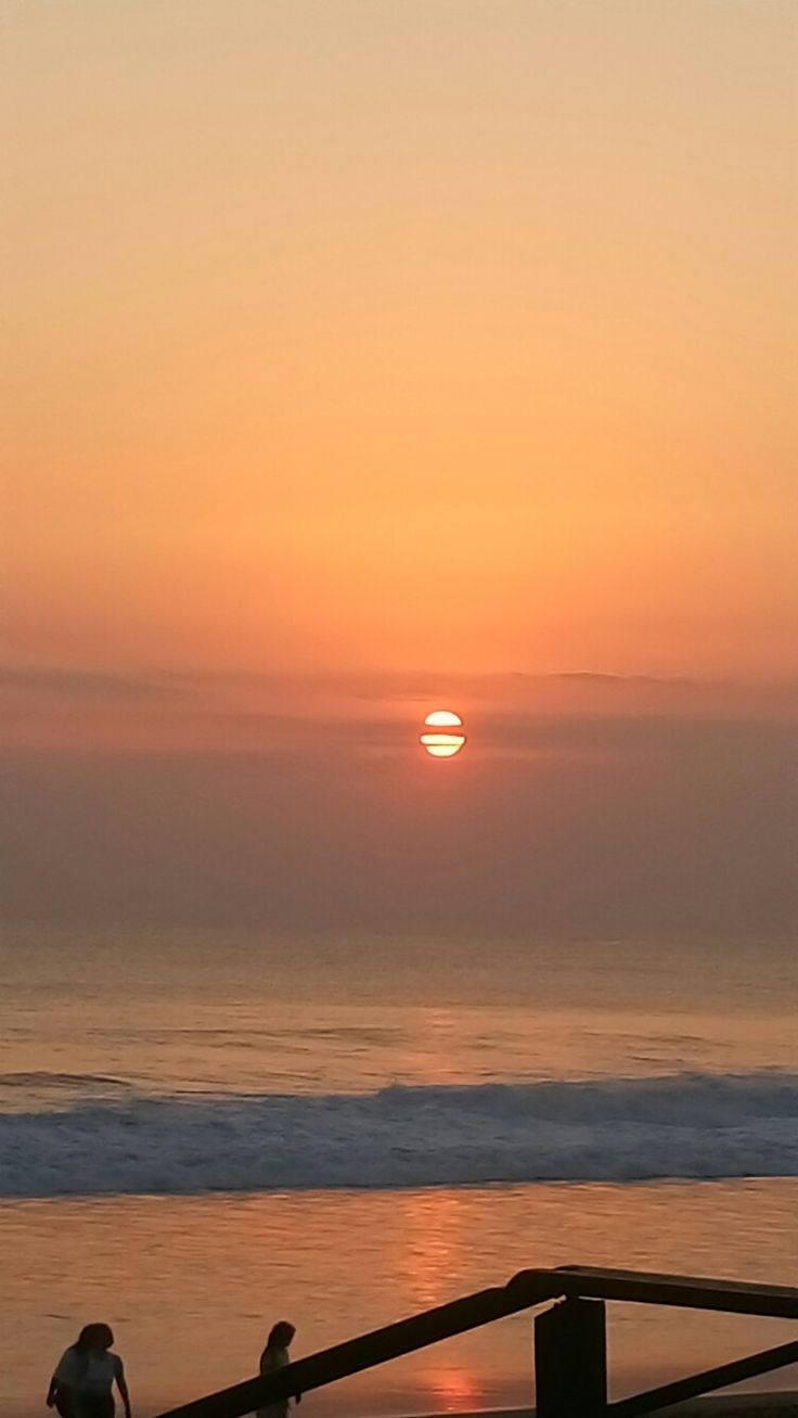Sunset at batu belig beach bali Indonesia