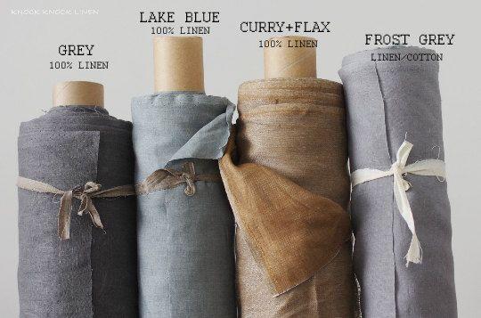 Linen Fabric / lake blue by KnockKnockLinen on Etsy