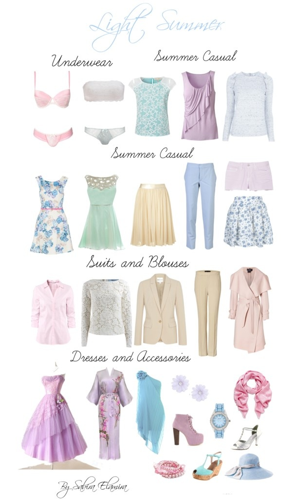 """""""Light Summer Light Colors"""" by sabira-amira ❤ liked on Polyvore"""