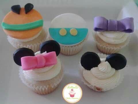 Cupcakes de mickey y sus amigos