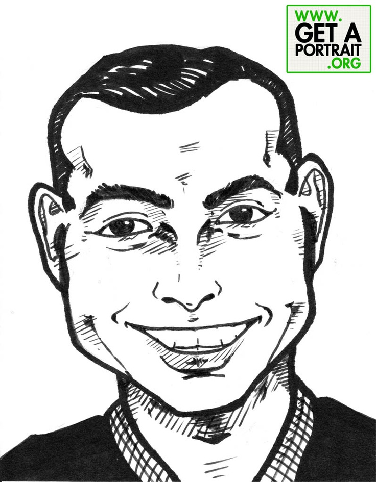 Caricature of Derek Halpern — Get a high quality PORTRAIT or CARICATURE from a pro, for an unbeatable price! GetAPortrait.org