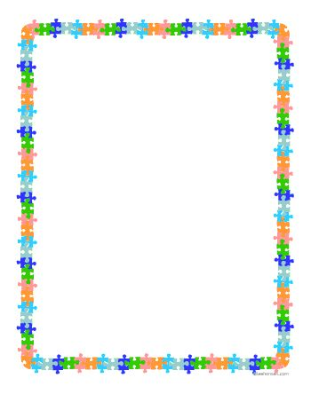 puzzle pieces border clip art youth note  flyers pinterest free clipart border images free clipart border images