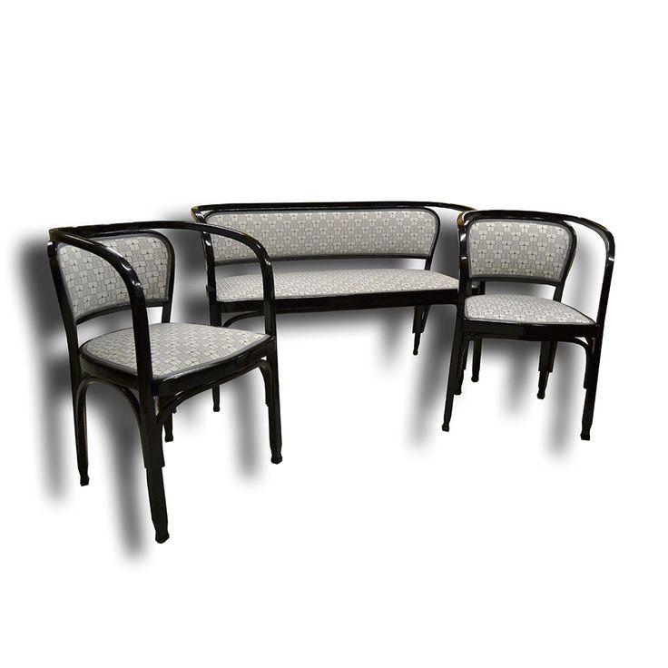 sedaci-souprava-gustav-siegel  Sofa + armchairs, chairs by Gustav Siegel , Viennesse art nouveau