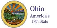 The Ohio Department of Development, who oversees the Ohio Department of Travel and Tourism and it's discoverohio.com Official Ohio Travel and Tourism Web site,  brought to our attention the fact that you can not display the Great Seal of Ohio without the Governor's written permission (Ohio Revised Code Section 510).  So we are displaying the Ohio flag in its place pending approval by the Governor to display the Great Seal of the State of Ohio.