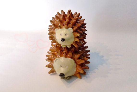 Hedgehog Couple Decorative Pottery Sweethearts by HedgehogLounge, $56.00