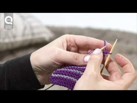 Lavorare a maglia con due colori. Presenta Emma Fassio - YouTube