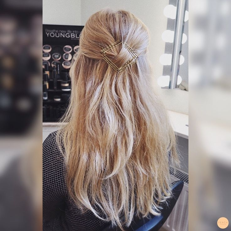 easy hairstyling with bobby pins