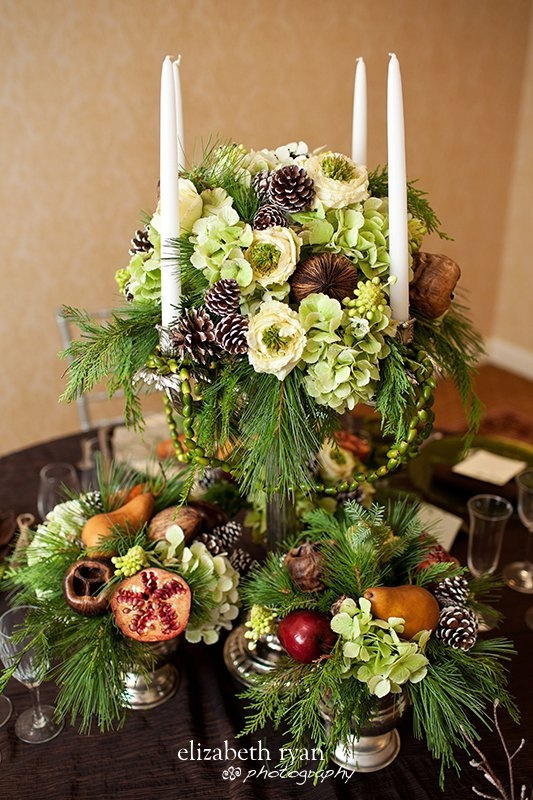 holiday centerpiece | Table Centerpieces | Pinterest